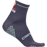 Castelli Women's Rosa Corsa Socks - L-XL - Dark Steel Blue/Aruba Blue