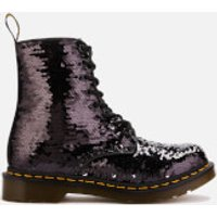 Dr. Martens Women's 1460 Sequin Pascal 8-Eye Boots - Black/Silver - UK 8 - Black