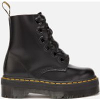 Dr. Martens Women's Molly Buttero Leather 6-Eye Boots - Black - UK 7 - Black