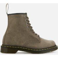 Dr. Martens Men's 1460 Dusky Leather 8-Eye Boots - Olive - UK 8 - Grey