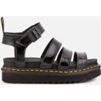 Dr. Martens Women's Blaire Patent Lamper Strappy Sandals - Black - UK 8 - Black