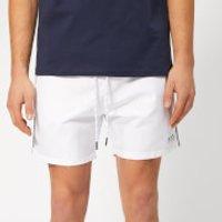 BOSS Men's Starfish Swim Shorts - White - XL - White