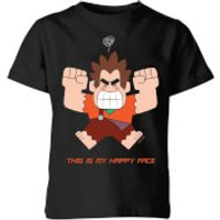 Disney Wreck it Ralph This Is My Happy Face Kids' T-Shirt - Black - 5-6 Years - Black