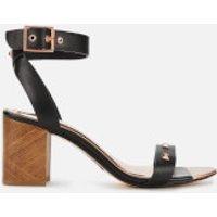 Ted Baker Women's Biah Leather Block Heeled Sandals - Black - UK 4 - Black