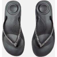 FitFlop Women's iQushion Sparkle Flip Flops - Black - UK 3 - Black