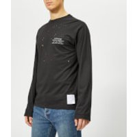 Satisfy Men's Deserter Moth Eaten Long Sleeve T-Shirt - Black Wash - M - Black