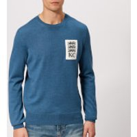 Kent & Curwen Men's Fleet Crew Neck Knitted Jumper - Denim Blue - S - Blue