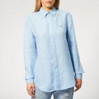 Polo Ralph Lauren Women's Relaxed Long Sleeve Shirt - Harbour Island Blue - XS - Blue