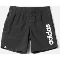 adidas Young Boy LIN Swim Shorts - Black - 5-6 Years - Black