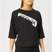 Reebok Women's Meet You There Graphic Short Sleeve T-Shirt - Black - S - Black