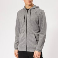 Reebok Men's Wor Mel Double Knit Full Zip Hoodie - Grey Heather - L - Grey