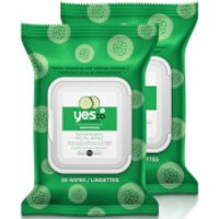 yes to Cucumber Soothing Hypoallergenic Facial Wipes - 30 Count (2 Pack)