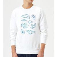 Barlena Ocean Gems Sweatshirt - White - XL - White