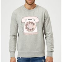 Barlena Phone Call Sweatshirt - Grey - L - Grey