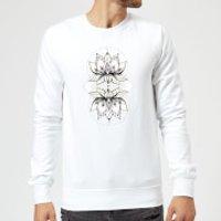 Barlena Lotus Sweatshirt - White - 5XL - White