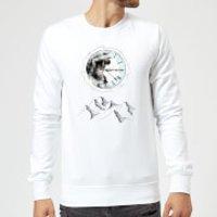 Barlena Take Your Time Sweatshirt - White - XL - White