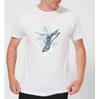 Barlena Hummingbird Men's T-Shirt - White - XXL - White