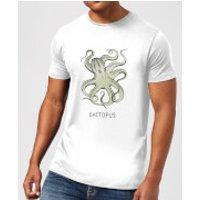 Barlena Cactopus Men's T-Shirt - White - L - White
