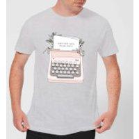 Image of Barlena Don't Stop Until You're Proud Men's T-Shirt - Grey - S - Grey