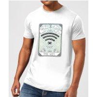Barlena The Wifi Men's T-Shirt - White - XXL - White