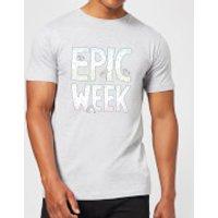 Barlena Epic Week Men's T-Shirt - Grey - XXL - Grey