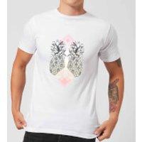 Barlena Tropical Men's T-Shirt - White - XL - White