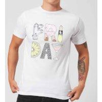 Barlena Friday Men's T-Shirt - White - M - White