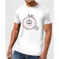 Barlena Donut Ride My Bicycle Men's T-Shirt - White - XXL - White
