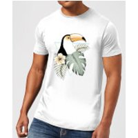 Barlena Toucan Men's T-Shirt - White - 3XL - White