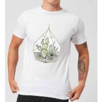 Barlena Succulent Terrarium Men's T-Shirt - White - L - White