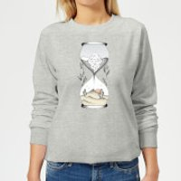 Time Is Running Out Women's Sweatshirt - Grey - 5XL - Grey - Athletics Gifts