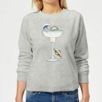 Barlena Summer Cocktail Women's Sweatshirt - Grey - L - Grey