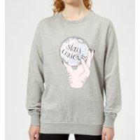 Barlena Stay Curious Women's Sweatshirt - Grey - L - Grey