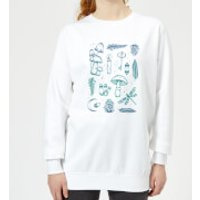 Barlena Enchanted Forest Women's Sweatshirt - White - S - White