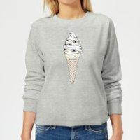 Barlena Eyes Cream Women's Sweatshirt - Grey - XS - Grey