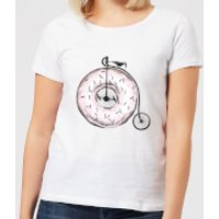 Barlena Donut Ride My Bicycle Women's T-Shirt - White - M - White
