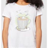Barlena Teatime Women's T-Shirt - White - M - White
