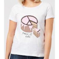 Barlena Peace Of Cake Women's T-Shirt - White - M - White