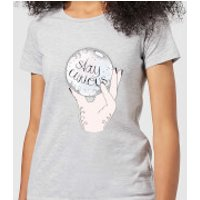 Barlena Stay Curious Women's T-Shirt - Grey - S - Grey