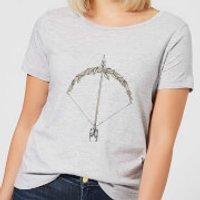 Barlena Bow and Arrow Women's T-Shirt - Grey - XXL - Grey