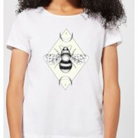 Barlena Bee Confident Women's T-Shirt - White - M - White