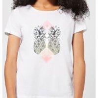 Barlena Tropical Women's T-Shirt - White - XXL - White
