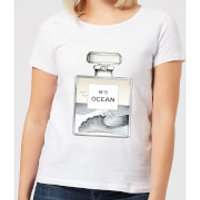 Barlena Ocean No5 Women's T-Shirt - White - XL - White