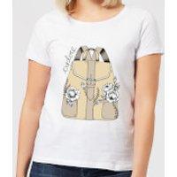 Barlena Explore Women's T-Shirt - White - M - White