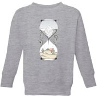Barlena Time Is Running Out Kids' Sweatshirt - Grey - 11-12 Years - Grey - Athletics Gifts