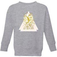 Barlena Pineapple Kids' Sweatshirt - Grey - 5-6 Years - Grey