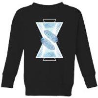 Barlena Feathers Kids' Sweatshirt - Black - 5-6 Years - Black