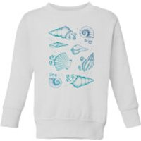 Barlena Ocean Gems Kids' Sweatshirt - White - 5-6 Years - White