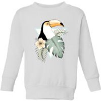 Barlena Toucan Kids' Sweatshirt - White - 7-8 Years - White