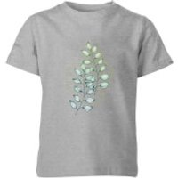 Barlena Geometry and Nature Kids' T-Shirt - Grey - 9-10 Years - Grey